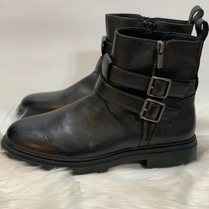 """Lucky Brand """"Basimi"""" Leather Moto Boots NEW"""